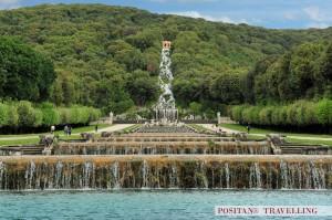 cascades and waterfall, Caserta Garden