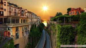 Street-Sunset-Sorrento-Italy_positano_travelling_car_service_amalfi_coast